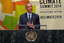 Pres. Obama presents exec. action on climate
