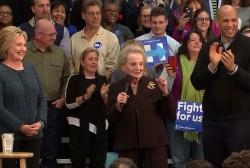 Albright addresses women voters