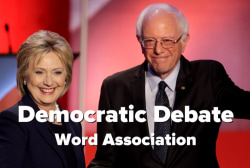 Dems play post-debate word association game