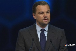 DiCaprio attacks energy's 'corporate greed'