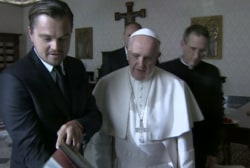 DiCaprio's personal meeting with Pope Francis
