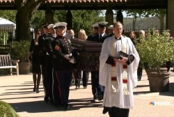 Nancy Reagan's casket arrives at Reagan...