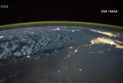 Time-lapse shows lightning strikes from space