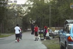 Video of officer shooting hoops goes viral