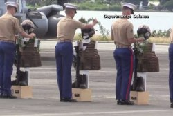 Memorial service held for 12 Marines in...