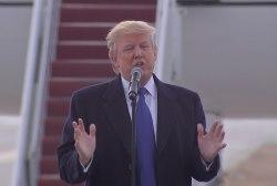 Donald Trump talks about winning