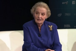 Albright on 'fear factor' of refugee crisis