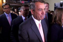 Boehner appears after resignation...