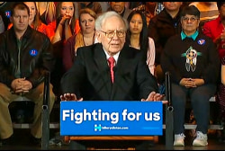 Warren Buffett endorses Hillary Clinton