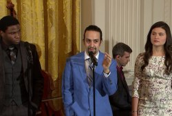 'Hamilton' cast performs hit musical at WH