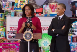 Who's Michelle Obama's new toy-sorting...