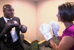 Holyfield's advice to Romney: Keep hands up