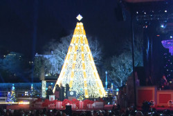 The Obamas light the National Christmas Tree