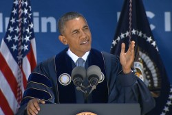 Obama pushes climate action at UC Irvine