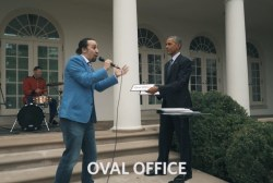 'Hamilton' creator freestyles with Pres....