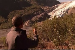 President Obama visits fading Exit Glacier
