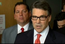 Perry defends himself from abuse of power...
