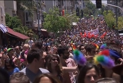 Over 100,000 turn out for Tel Aviv pride...