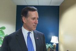 Santorum on fundraising...and sweater vests