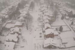 WATCH: Hypnotic aerial footage of snow in WV