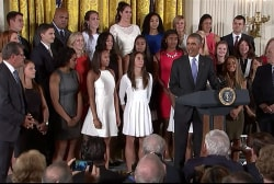 Obama honors 2015 NCAA champs UConn at WH