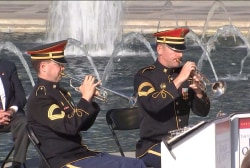 Veterans honored at WWII Memorial ceremony