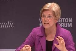 Elizabeth Warren: 'We are not going back'