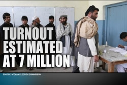 Afghanistan elections show high turnout