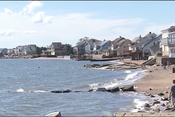 Rising sea levels leave coastline vulnerable
