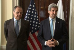 Secy. Kerry meets with Russian foreign...