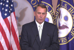 Boehner not taking sides for majority leader