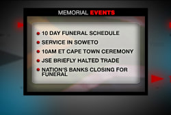 South Africa prepares for 10 days of mourning
