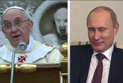 Putin, Pope Francis push for change on Syria