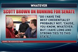Scott Brown's big 'whatever'