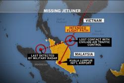 Still no sign of Malaysian Airlines flight
