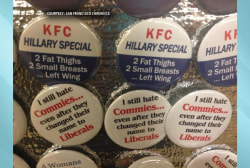 Sexist anti-Clinton buttons at GOP convention