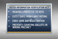 Judge asked to put voting ID law on hold