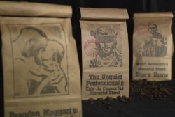 A US veteran roasts coffee beans for a cause