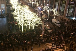 Eric Garner protests outside 30 Rock