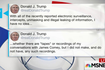 Trump Tweets He Does Not Have Tapes of…