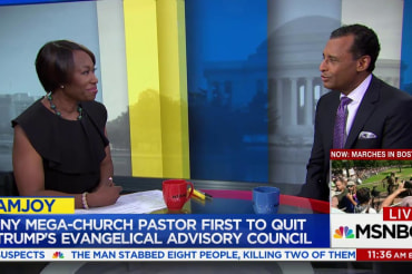 First pastor quits Trump's evangelical…