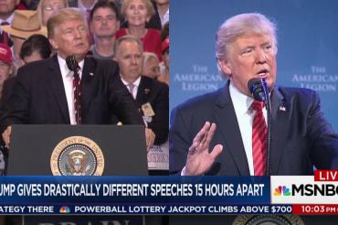 After fiery Phoenix rally, Trump returns...