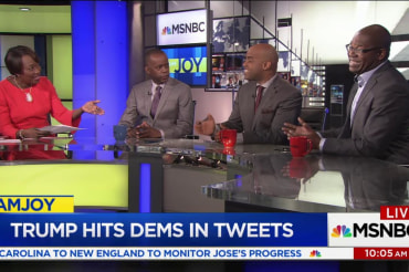 Trump's latest tweets and retweets draw…