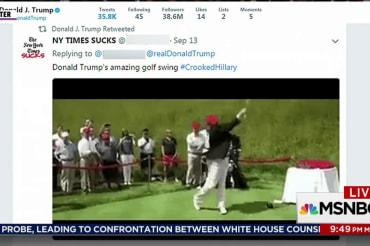 Trump retweets video of himself hitting…
