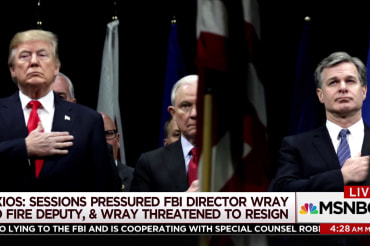 Report: FBI director threatened to quit over pressure to fire deputy