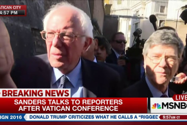 Sanders: Pope playing 'historical' role on...