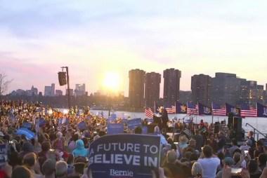 Morning Joe goes to Sanders' NYC rally