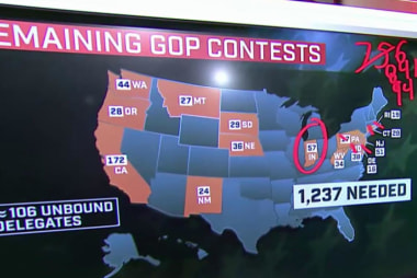 What the delegate map shows for Trump