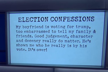 What's your election confession?