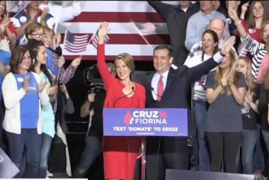 Cruz names Fiorina as 2016 running mate